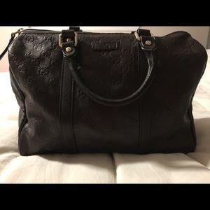 Gucci Boston Bag Satchel Microguccissima Brown